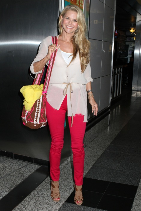 Christie Brinkley at Laguardia Airport, New York, America - 30 Jul 2012
