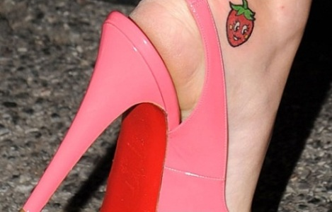strawberry-Katy-Perry-Tattoo-on-foot