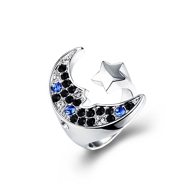 2013-Free-Shipping-Star-And-font-b-Moon-b-font-fashion-crystal-ring-made-with-swarovski