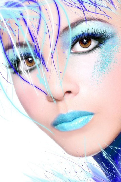 10-Frozen-Ice-Snow-Queen-White-Winter-Make-Up-Ideas-2012-For-Girls-6