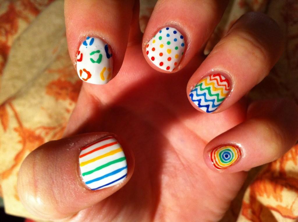 Rainbow Boom nails