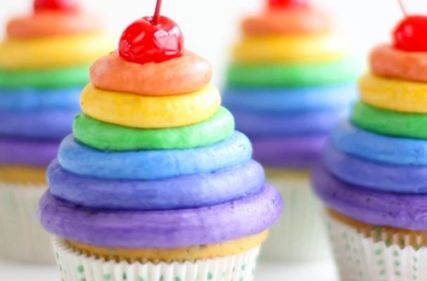 SprinkleBakes Roy G Biv Rainbow Cupcakes
