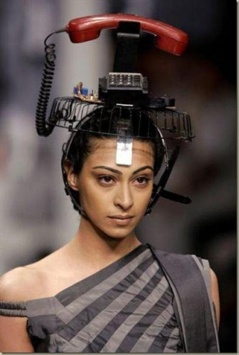 telephone-on-her-head-funny-fashion