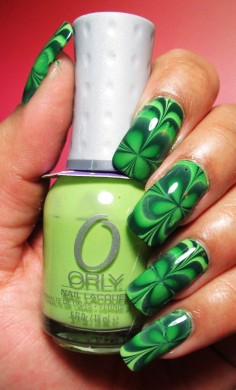 st. patricks day irish shamrock nails st patricks day manicure st. patricks day shamrock ideas-t84708