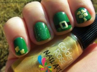 st. patricks day nail makeup-t71145