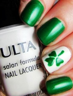 st. patricks day shamrock nail diy st. patricks day nail ideas st. patricks day shamrock ideas st. p-t15380