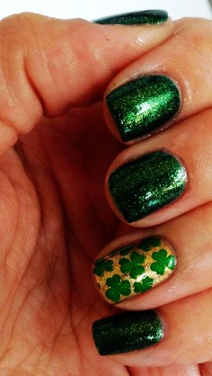 st. patricks day shamrock nails diy st patricks day manicure st. patricks day makeup ideas-t41289