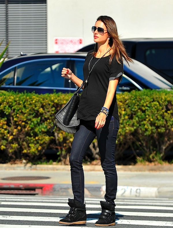 alessandra-ambrosio-isabel-marant-wedge-willow-sneakers