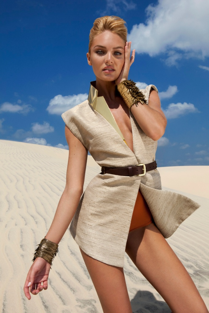 Candice Swanepoel by J.R. Duran (Queen Of The Desert – Vogue Brazil October 2011) 1