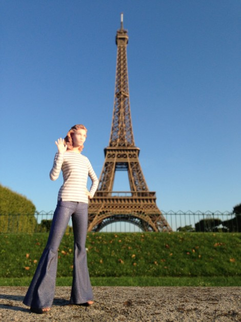 Karlie Kloss figurine feature shoot in Paris, France on July 31,