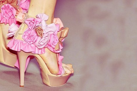 bow-brown-flower-fashion-flowers-heels