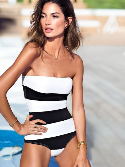 Costume-intero-bianco-e-nero-Victorias-Secret